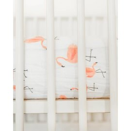 Little Unicorn Pink Ladies Cotton Muslin Crib Sheet