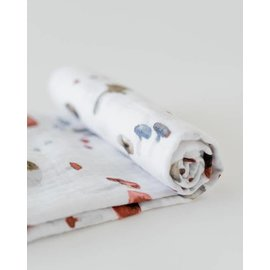 Little Unicorn Mushroom Cotton Muslin Swaddle