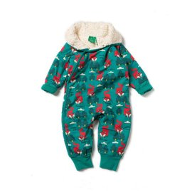 Little Green Radicals Winter Fox Organic Snowsuit