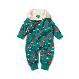 Little Green Radicals Winter Fox Organic Snowsuit