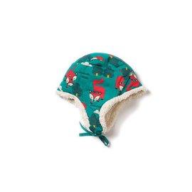 Little Green Radicals Winter Fox Organic Sherpa Hat