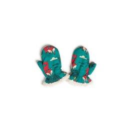 Little Green Radicals Winter Fox Organic Sherpa-Lined Mittens
