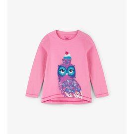 Hatley Cupcake Owl Long Sleeve Tee