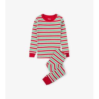 Hatley Holiday Stripe Organic Cotton PJ Set