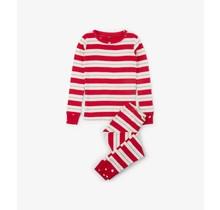 Metallic Stripe Organic Cotton Holiday PJ Set