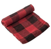 Red Plaid Cotton Muslin Swaddle