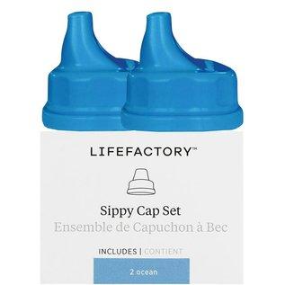 Life Factory Lifefactory Sippy Cap 2pk, Ocean