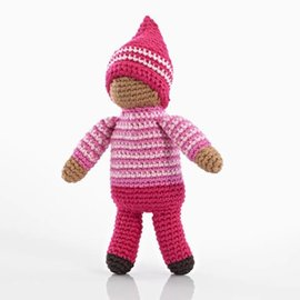 Pebble Pixie Fair Trade Rattle, Rose