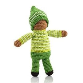 Pebble Pixie Fair Trade Rattle, Fern