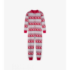 Hatley Fair Isle Moose Organic Cotton One Piece