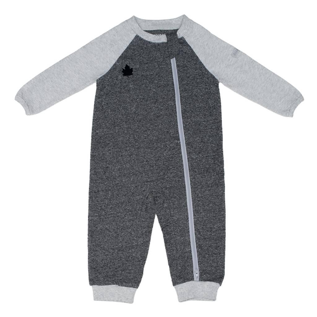Black Organic Raglan Playsuit - Sweetpea Wholesome Baby f715f928ac85