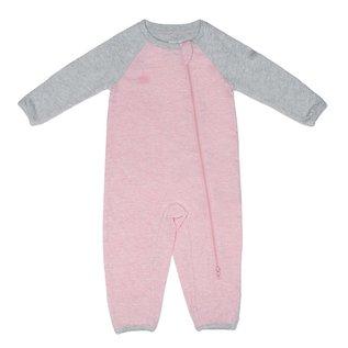 Juddlies Pink Organic Raglan Playsuit