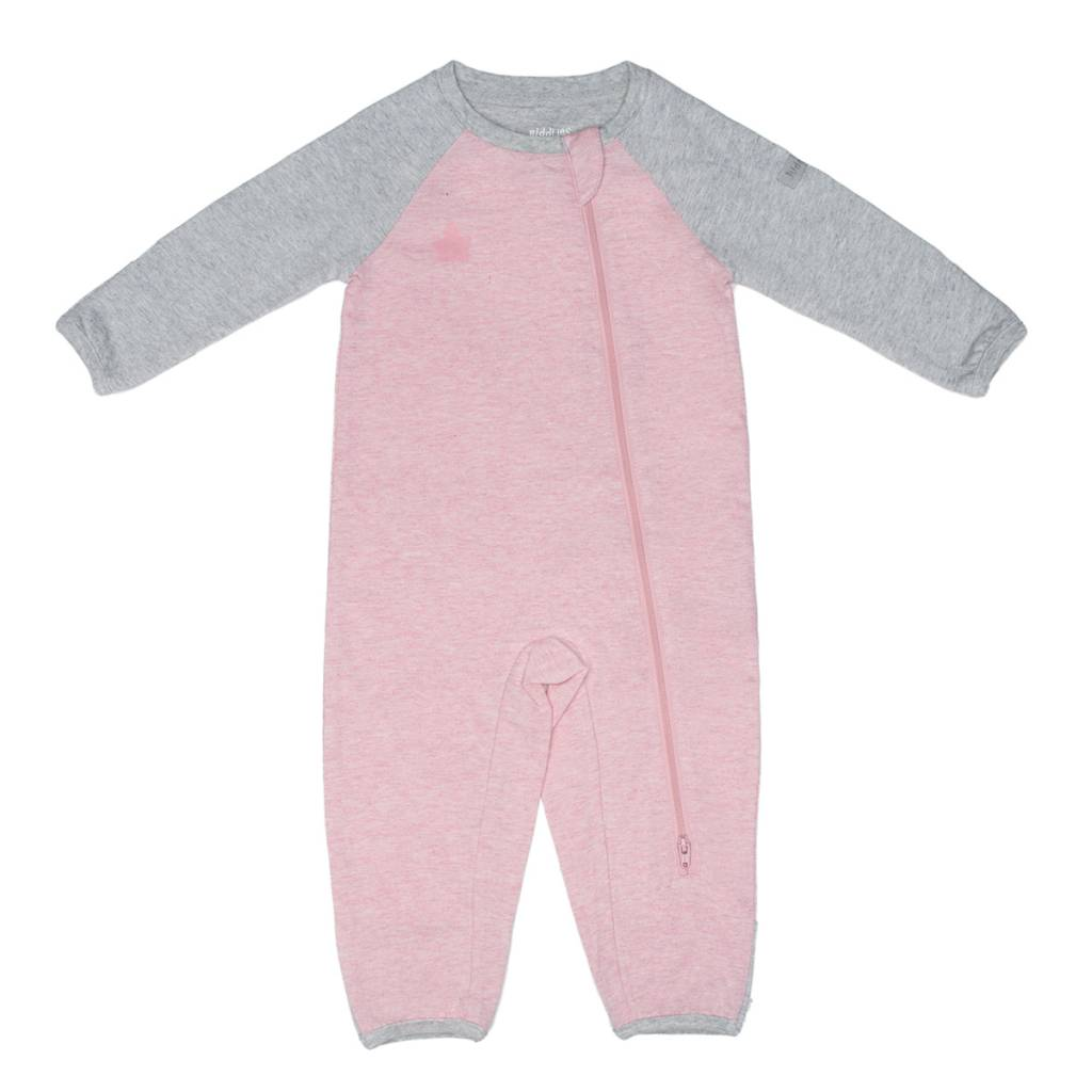Pink Organic Raglan Playsuit - Sweetpea Wholesome Baby 9f28c2e2ec4a