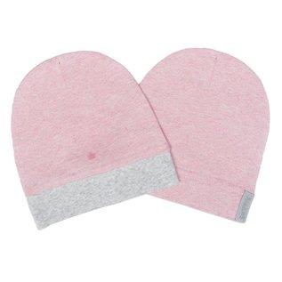 Juddlies Pink Organic Raglan Hat 2 Pack