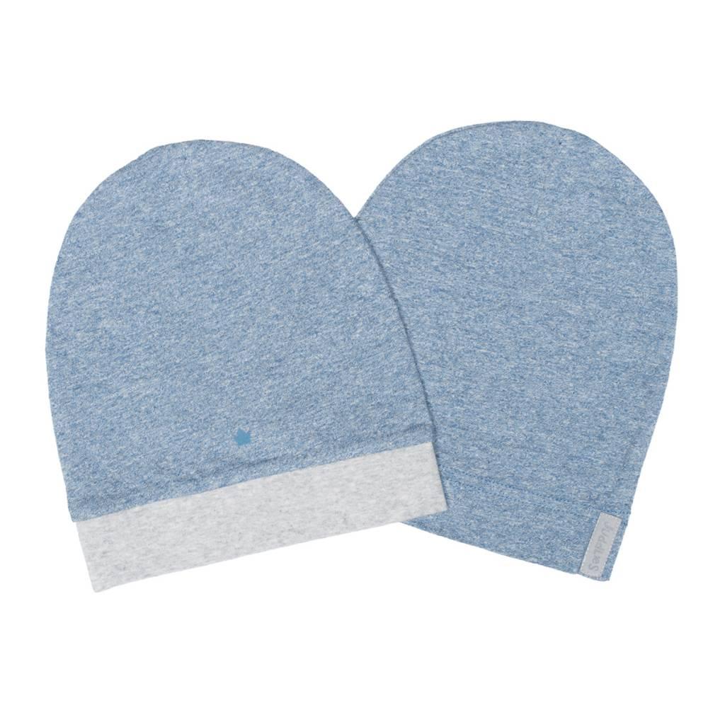 Blue Organic Raglan Hat 2 Pack - Sweetpea Wholesome Baby bef8038ea3df
