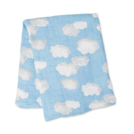 Lulujo Clouds Cotton Muslin Swaddle