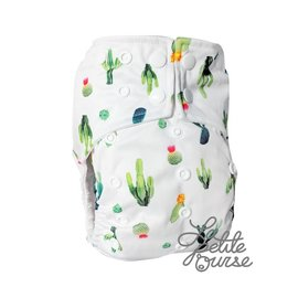 La Petite Ourse One-Size Snap Diaper, Cactus