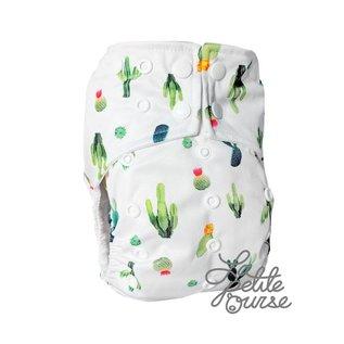 La Petite Ourse One-Size Snap Diaper, Cactus