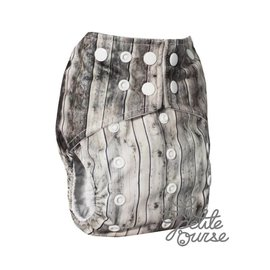 La Petite Ourse One-Size Snap Pocket Diaper, Barn