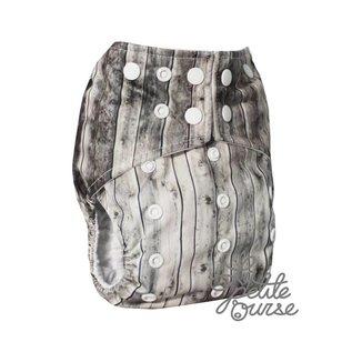 La Petite Ourse One-Size Snap Diaper, Barn
