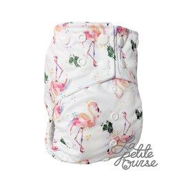 La Petite Ourse One-Size Snap Diaper, Flamingo
