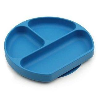 Deep Blue Silicone Grip Dish