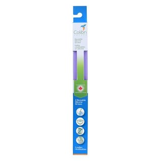 Colibri Purple Silicone Straw 2 pack