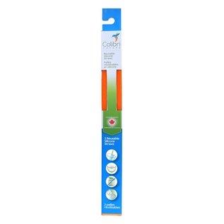 Colibri Orange Silicone Straw 2 pack