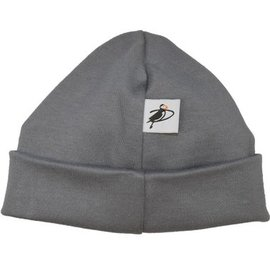 Puffin Gear Grey Organic Cotton Jersey Beanie