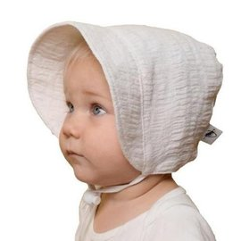 Puffin Gear White Linen Bonnet