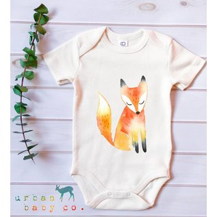 Urban Baby Co. Fox Short Sleeved Organic Baby Bodysuit