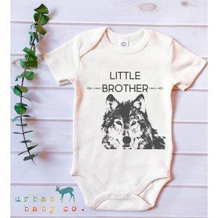 Urban Baby Co. Little Brother Wolf Organic Baby Bodysuit