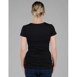 Momzelle Nursing Top, VANESSA, Black