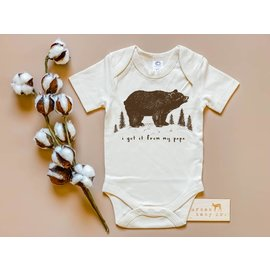 Urban Baby Co. I Got It From My Papa Bear Organic Baby Bodysuit