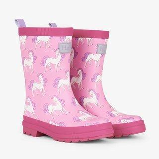 Unicorn Doodles Matte Rain Boots