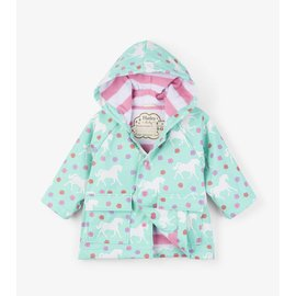 Hatley Colour Changing Galloping Horses Baby Raincoat