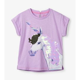 Hatley Flip Sequin Unicorn Graphic Tee
