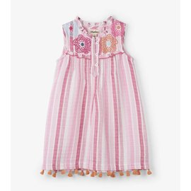 Hatley Floral Stripes Pin Tuck Dress