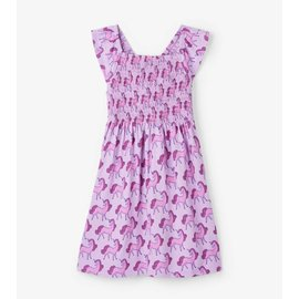 Hatley Precious Unicorns Smocked Dress