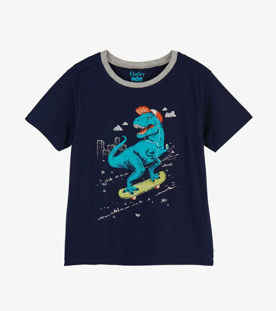 6720748be Skateboarding T-Rex Graphic Tee - Sweetpea Wholesome Baby