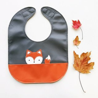 Mally Bibs Fox Leather Bib