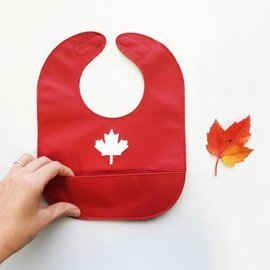 Mally Bibs Maple Leaf Leather Bib