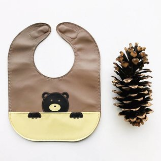 Mally Bibs Bear Leather Bib