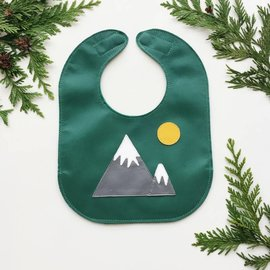 Mally Bibs Mountains Leather Bib