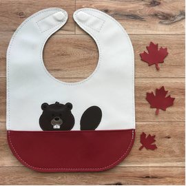 Mally Bibs Beaver Leather Bib