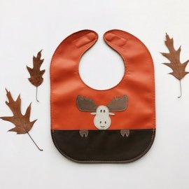 Mally Bibs Moose Leather Bib