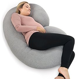 Pregnancy Pillow with Jersey Cover, Grey