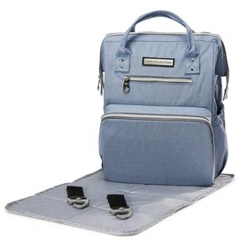 Soho Collections Blue Wide-Open Backpack Diaper Bag