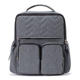 Grey New York Backpack Diaper Bag
