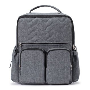 Soho Collections Grey New York Backpack Diaper Bag
